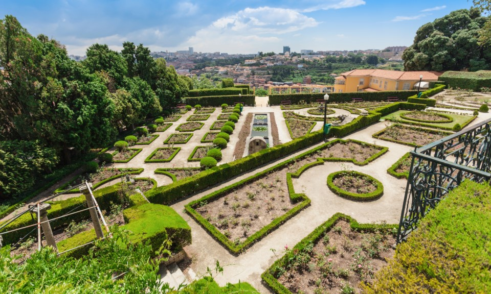 Parques e jardins no Porto: Jardins do Palácio de Cristal - Rota do Douro